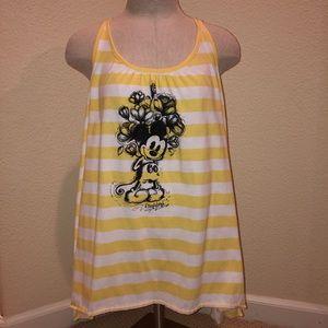 Disney yellow striped Mickey Mouse tank
